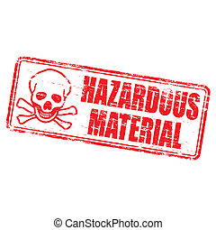 Hazardous Material Stamp - Rubber stamp illustration showing...