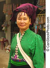 Portrait of a Lady White Thai - Portrait of a Thai woman...