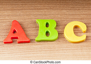 Early education concept with letters