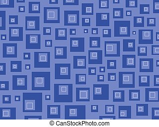 retro squares blues
