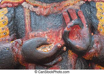 Kala Bhairava, deity of Newars, Durbar Square, Kathmandu,...