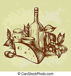 retro still life, this illustration may be useful as...