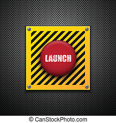 Launch button Vector background Eps10