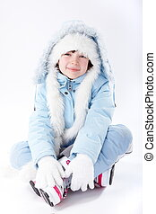 Girl in Winter Clothes - Pretty girl in winter clothes