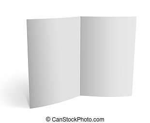 3d blank brochure spread pages - Empty double spread pages,...