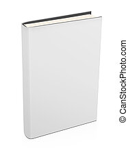 Blank hardcover book - 3d blank white book isolated on white