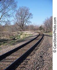 Railroad tracks in Nebraska - Railroad tracks on the...