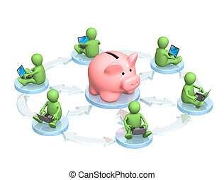 Virtual bank accounts - Conceptual image - virtual bank...