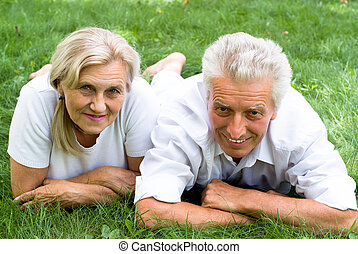 couple in a summer park