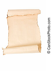 Vintage roll of parchment background i - Vintage roll of...
