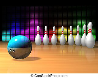 Bowling strike illustration