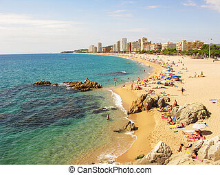 Beautiful beach in costa brava - A beautiful corner in Costa...