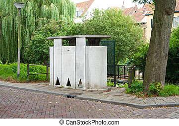 public urinal in the streets of zutphen, Netherlands