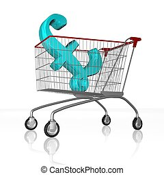 shopping cart - 3d illustration of shopping cart