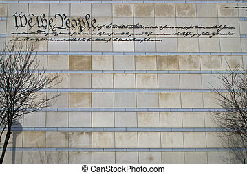 Preamble - The preamble to the US constitution on the wall...