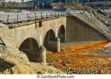 Old bridge - Riotinto - Abandoned bridge in historic area...