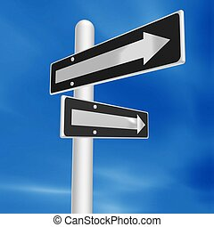 direction - blank direction sign
