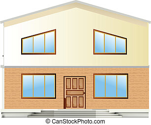Real Estate For Sale. Vector facade