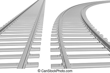train - 3D concept - Endless Train track