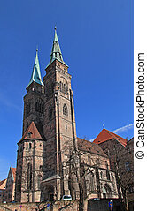 Famous Church of Sebaldus Nuremberg Bavaria Germany