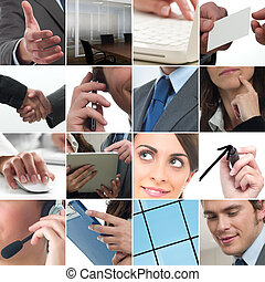 Business collage - Composition of business photo concept