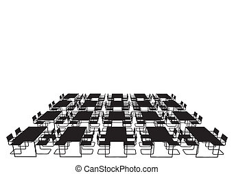 Dining Table And Chairs Vector