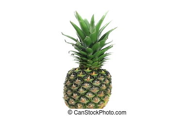Pineapple rotating on a white background