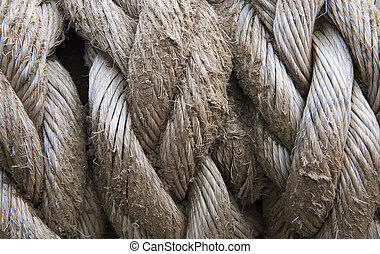 Close up of old rope texture background grunge look - Close...