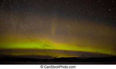 Northern lights and myriad of stars - Night sky with myriad...