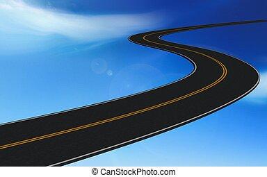 road - 3d illustration of road