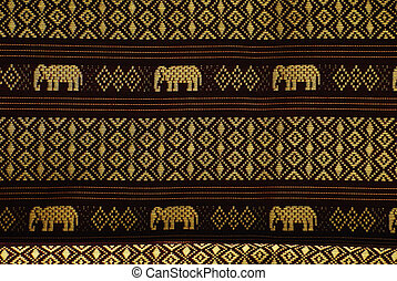 elephant pattern thai style background highly details