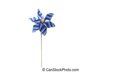 Pinwheel for children turning by the action of the wind