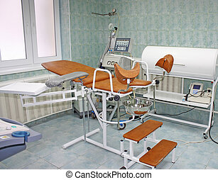 Gynecological equipment - Clinic interior, gynecological...