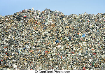 landfill - massive pile of decomposing landfill garbage - no...