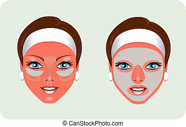 Facial Rejuvenation (mask). EPS 8, AI, JPEG
