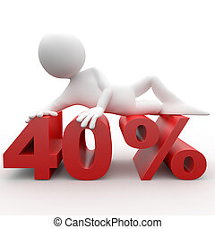 Man lying on the 40 percent