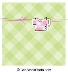 Baby arrival card with copy space  - Cute drawing