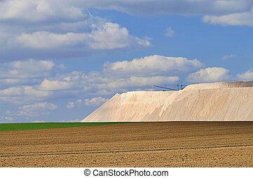Zielitz potash salt dump 07