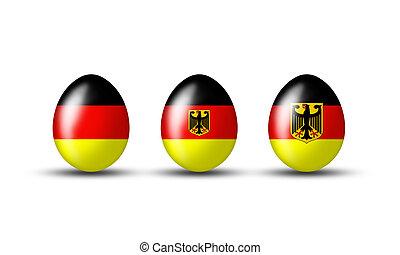 Kollektion deutscher Eier - Easter eggs with a German flag...