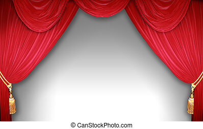 Theater scene - curtain of a classical theater