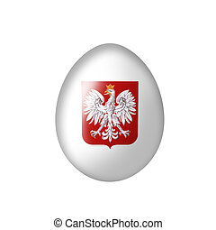 Egg with a Polish eagle