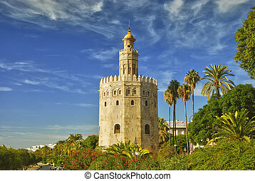 Tower of gold, Seville - Monument in Seville - Tower of...