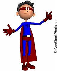 Toon Figure Super Hero - 3D Render of a Toon Figure Super...
