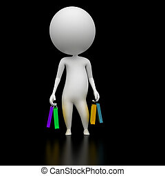 guy with some shopping bags