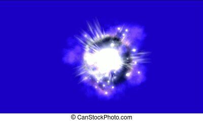 supernova explosion and Nebula in space background.