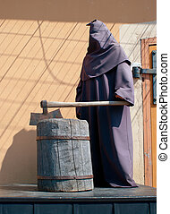 Executioner on a scaffold Waxen figure Shallow DOF