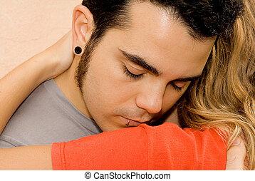 sad grief couple