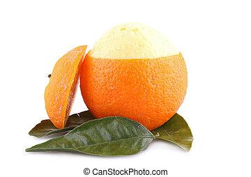 isolated orange sorbet