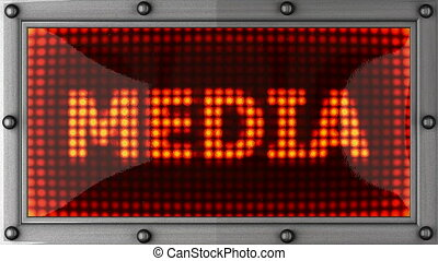 media announcement on the LED display