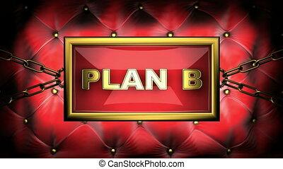 plan b on velvet background